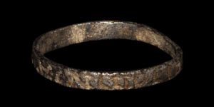 Medieval Silver Inscribed Ring