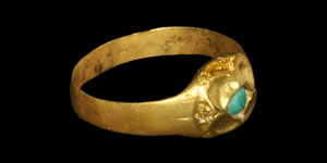Medieval Gold Cabochon Ring