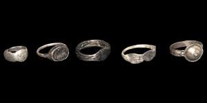 Roman Silver Rings Group