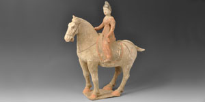 Chinese Early Tang Horse and Court Lady Rider