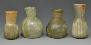 Roman Eastern Mediterranean Decorated Glass Bottles