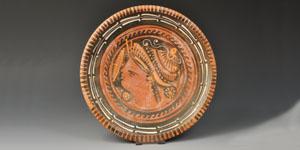 Greek Apulian Black-Glazed Plate