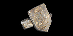 Post Medieval Tudor Silver Francis Vaughn at Hergest Court, Herefordshire Hawking Ring
