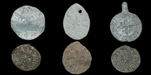 English Medieval - Six Lead 13th Century Seal Matrices