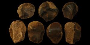 British Neolithic - Seven Convex Flint Scrapers