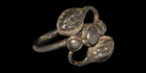 Roman Double Snake Head Ring