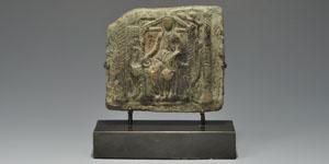Roman Seated Figure Plaque
