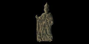 Post Medieval Episcopal Hunting Scene Plaque