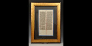 Medieval Illuminated Manuscript Page