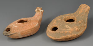 Byzantine Decorated Oil Lamps