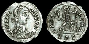 Roman Imperial - Arcadius - Immitative Siliqua