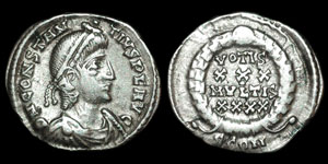 Roman Empire - Constantius II - Reduced Siliqua