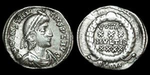 Roman Empire - Constantius II - Reduced Siliqua