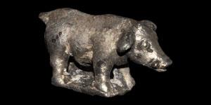 Roman Silver Sow Figurine