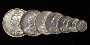 Victoria - 1887 - Silver Currency Year Set [7]