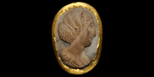 Roman Gold-Framed Cameo