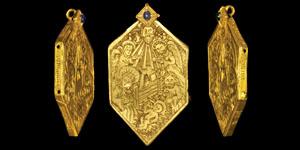 Medieval Nativity Reliquary Pendant