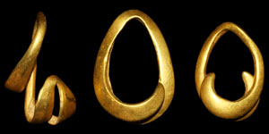 Bronze Age Gold Hair Rings