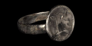 Medieval Inscribed Silver Ring