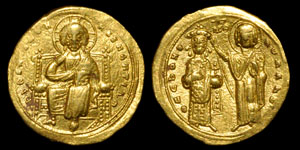 Byzantine Romanus III - Romanus Crowned by Mary Histamenon Nomisma