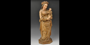 Medieval Virgin Mary and Child Figurine