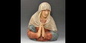 Medieval Virgin Mary Bust