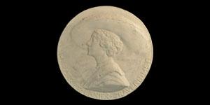 Portrait Plaster for Medal of Margaret Cravens - Mary Swainson