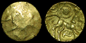 British Celtic - Dobunni - Uninscribed Quarter Stater