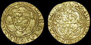 English Medieval - Edward III - Pre Treaty Period - Quarter Noble