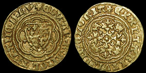 English Medieval - Edward III - Pre Treaty - Quarter Noble