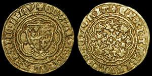 English Medieval - Edward III - Pre Treaty - Quarter Noble