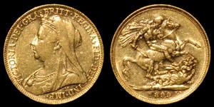 Victoria - 1899 Melbourne - Gold Sovereign