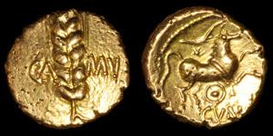 Celtic British Catuvellauni - Cunobelin - Wild Type Gold Stater