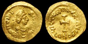 Byzantine Maurice Tiberius - Tremissis