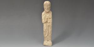 Medieval Limestone St Peter Figure