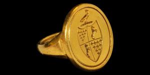 Post Medieval Gold Merchants Signet Ring