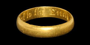 Post Medieval Gold be Constant to the End Posy Ring