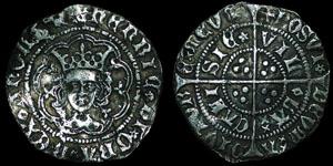 English Medieval - Henry VI - Rosette Mascle - Halfgroat - Calais