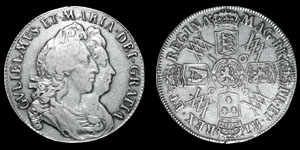 William and Mary - 1693/3 - Halfcrown