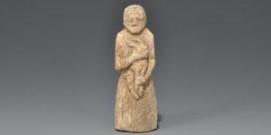Old Syrian Bone Goat Sacrifice Figure