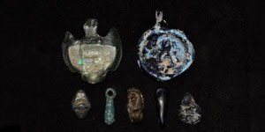 Roman Glass Decorated Beads and Pendants