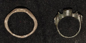 Roman Group of Silver and Bronze Rings