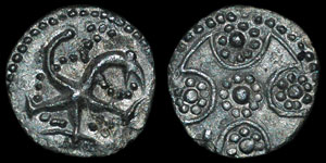 Anglo-Saxon - Series H, type 39 - Sceatta