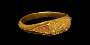 Medieval Gold St Catherine Iconographic Ring