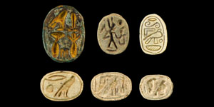 Egyptian Group of Composition Scarabs