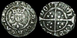English Medieval - Henry VI - Leaf Trefoil - Halfpenny - London
