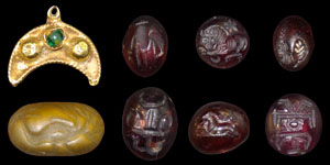 Roman Group of Intaglios and Pendant