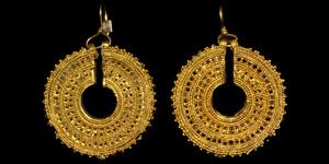 Etruscan Gold Openwork Earrings