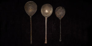 Post Medieval Latten and Pewter Tudor Spoons Group