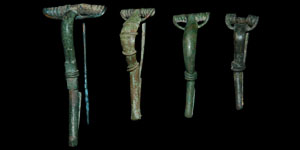 Roman - Four Bronze Bow Brooches